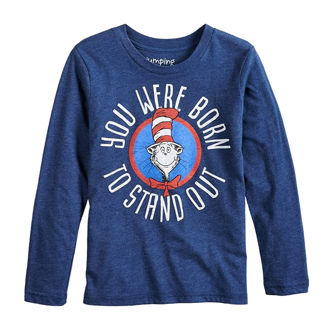 Dr. Seuss Cat in The Hat Boys Girls Long Sleeve Shirt (4-8)