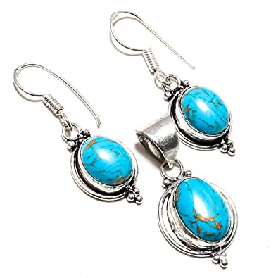Gemstone Pendant for Jewelry Making Turquoise Gemstone Turquoise Gemstone Pendant 925 Sterling Silver Dangle Pendant