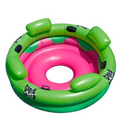 "75"" Bright Green and Pink Inflatable Shock Rocker Swimming Pool Float Toy: Sports & Outdoors"