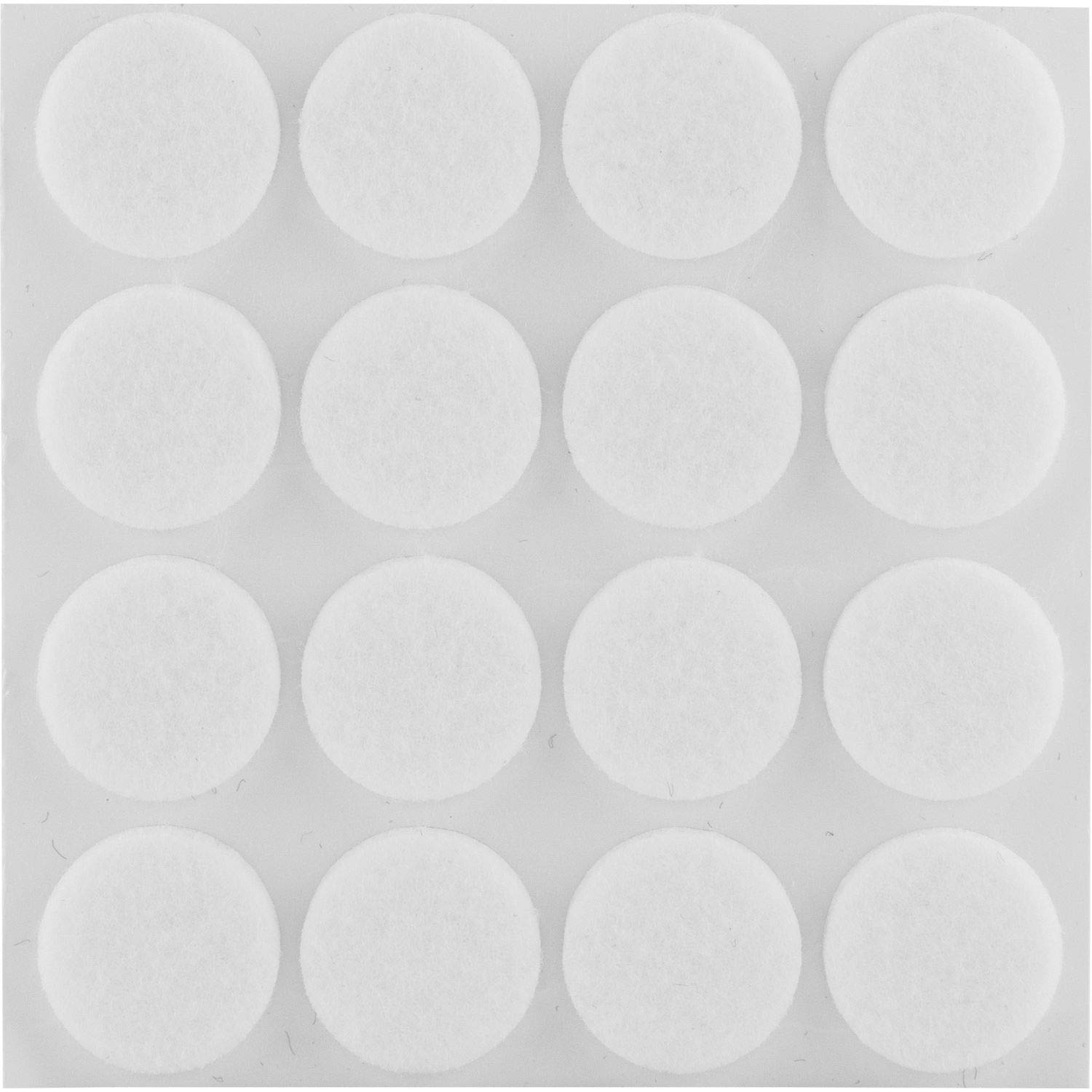 Secotec Felt Pads Self-Adhesive White Round 22 mm (Pack of 16)/V105 A031S807