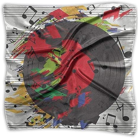 Jxrodekz Pañuelo Cuadrado Acuarela Música Notas Pañuelo Abstracto ...