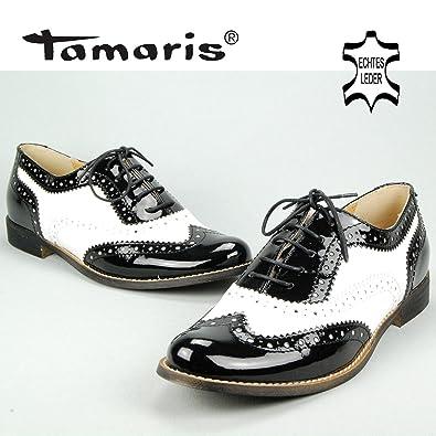TAMARIS Damen Schnür Sneaker, Budapester Look, Halbschuhe