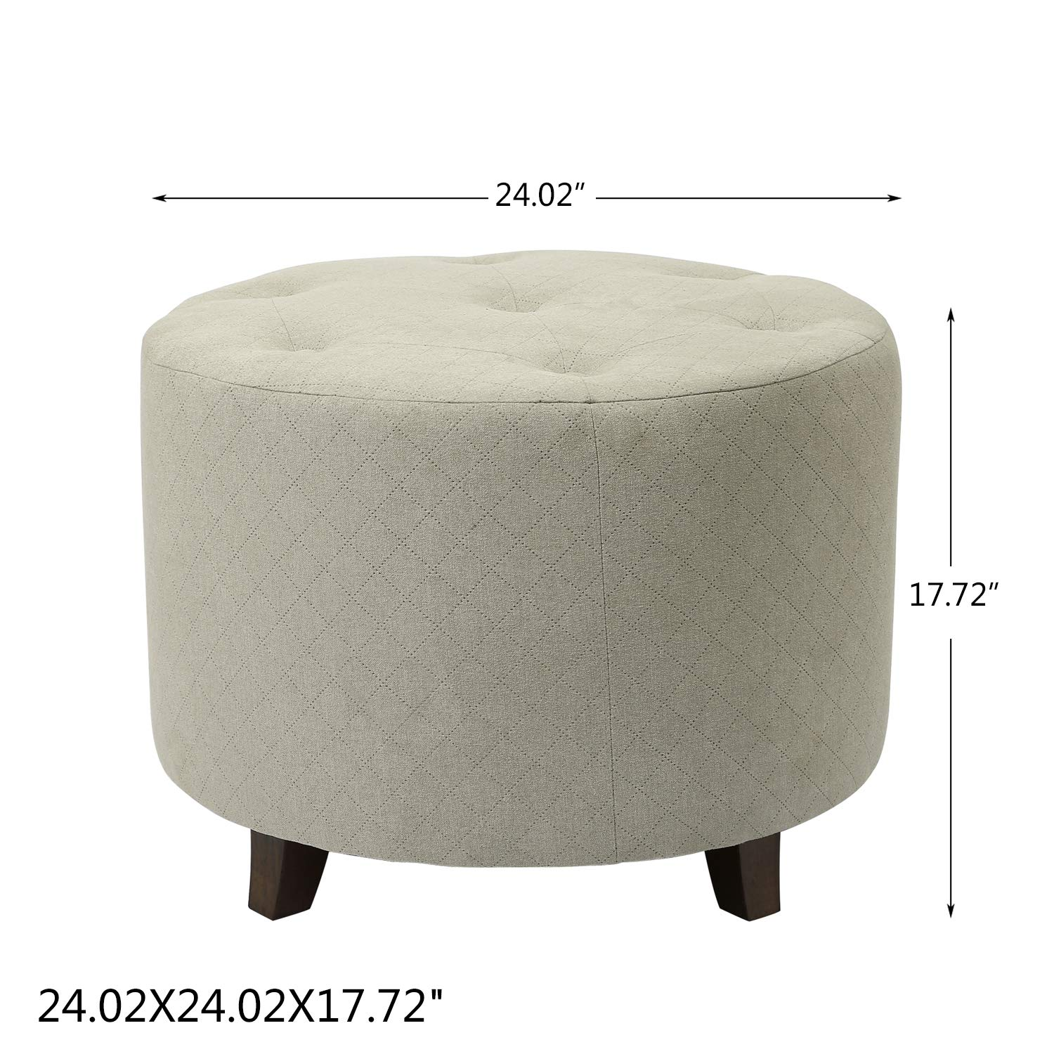 Amazoncom Adeco Ft0273 1 Round Fabric Foot Rest And Seat Modern