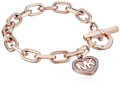 Amazoncom Michael Kors Symbols Rose GoldTone Link Bracelet Jewelry
