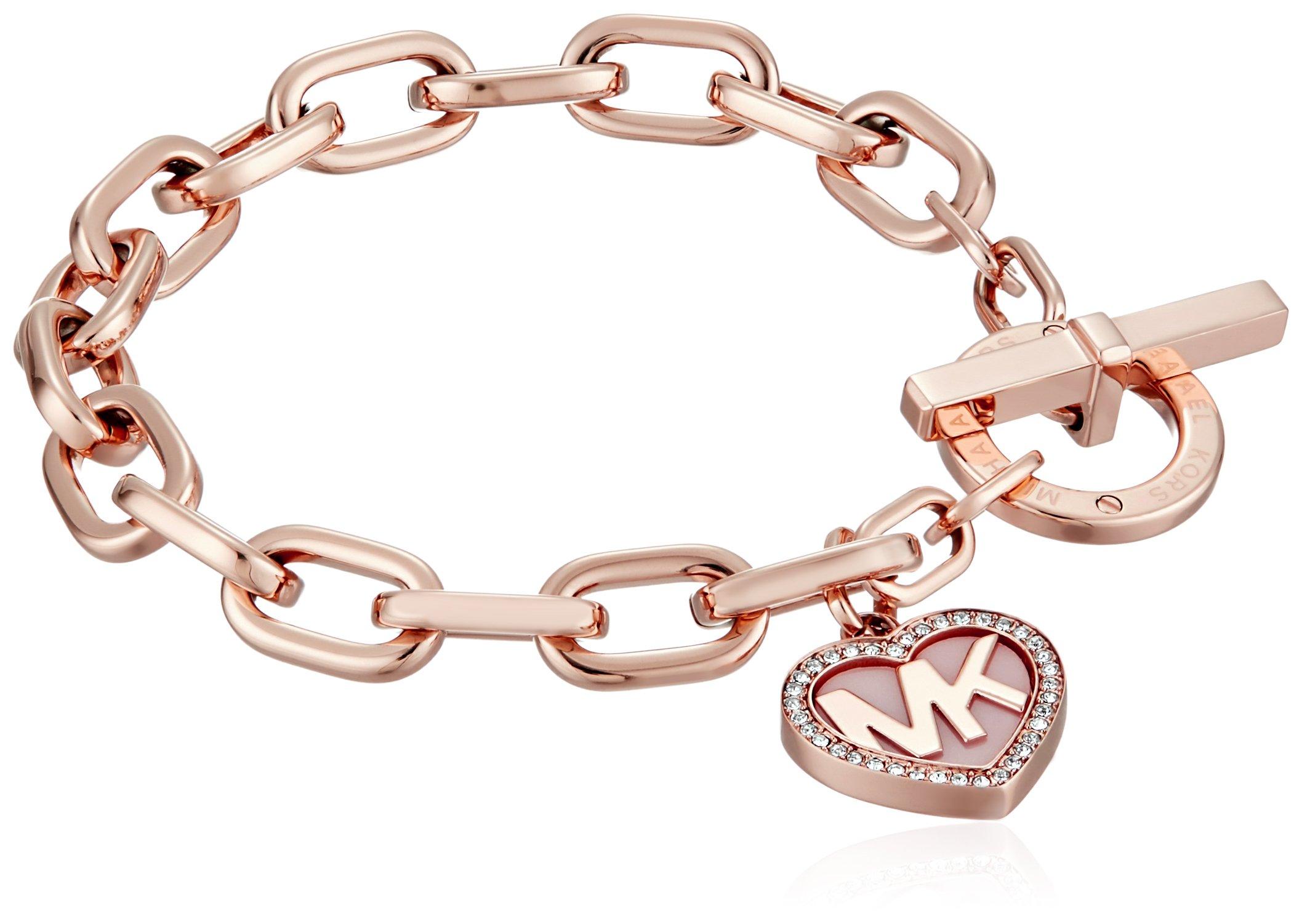 Michael Kors Symbols Rose Gold-Tone Link Bracelet
