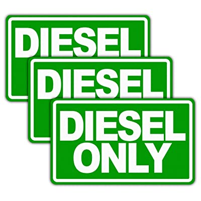 "Anley 5"" X 3"" Diesel Only Decal 3Pcs - Reflective Diesel Only Sign on Fuel Tank Signage to Prevent User Error - Adhesive Fuel Stickers for Trucks, Tractors, Machinery(3 Pack Set): Automotive"