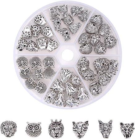 8 x 9 mm 14 pz Perline in argento tibetano