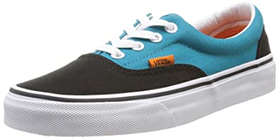 Vans Classic Era Pop Black Blue Mens Trainers - VY6XFJX Black/Pagoda Blue 9  D