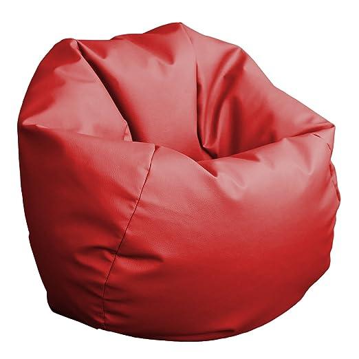 HAPPERS Puff Pelota 60cm diámetro (Rojo): Amazon.es: Hogar