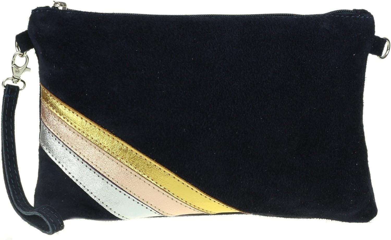 Girly Handbags V/éritable ray/é Pochette italienne