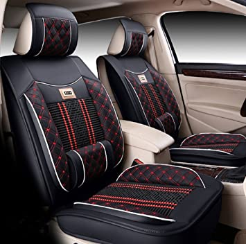 Icegirl Universal Needlework Front & Rear Car Seat Cushion Cover For ...