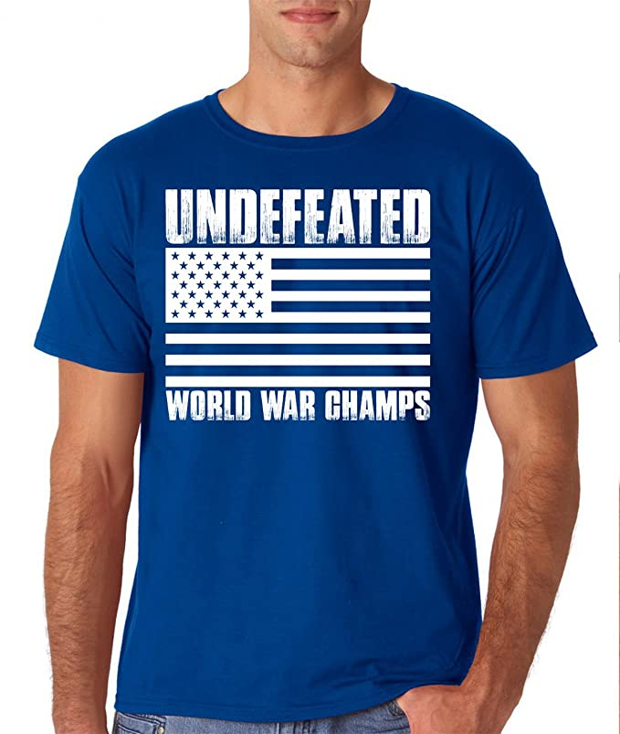Amazon.com: AW Fashions Undefeated World War Champs Mens T-Shirt: Clothing