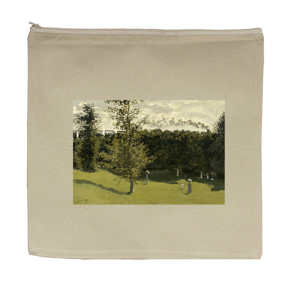 Train In The Countryside (Monet) Canvas Zipper Tote Bag Makeup Bag