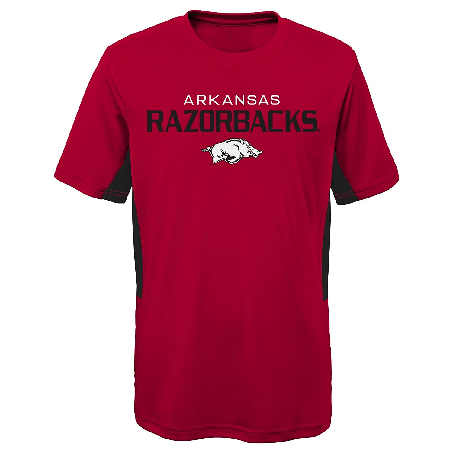 Youth Large Victory Red NCAA by Outerstuff NCAA Arkansas Razorbacks Youth Boys Mainframe: Short Sleeve Performance Top 14-16