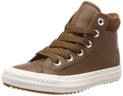 fe2d5b52c184 Converse Chuck Taylor All Star PC Boot Hi Chestnut Brown Leather 1.5 M US Little  Kid