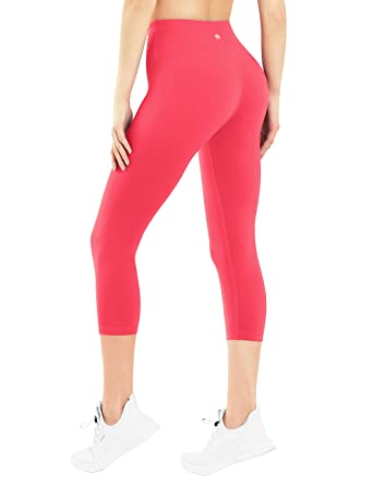 30d483309b BUBBLELIME High Compression Yoga Capris Running Capris For Yoga High Waist Moisture  Wicking UPF30+ Non See