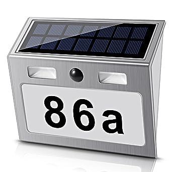 Beleuchtung Decken- & Wandleuchten Led Hausnummer Beleuchtet Solar Leuchte Dämmerungsschalter Außenwandleuchte