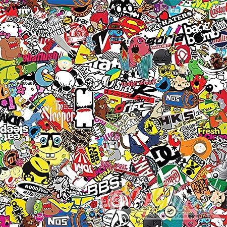 Stickerbomb Auto Folie Alle Größen Eine Auktion Marken Sticker Bomb Logos Jdm Aufkleber 500x150cm Design Neu Bunt Glänzend Küche Haushalt
