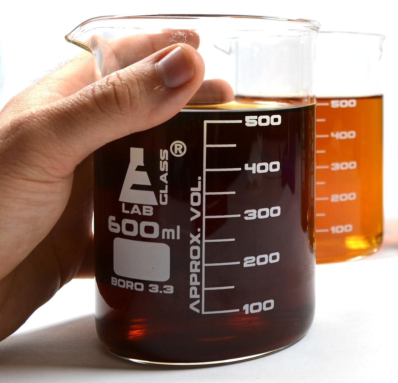 Premium Beaker Pint Glasses (20oz), Thick Borosilicate Glass, Pack of 2 hBARSCI