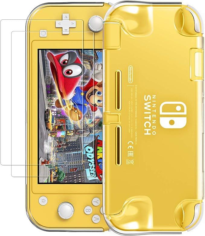 VGUARD iVoler Funda Protectora para Nintendo Switch Lite, PC Carcasa Transparente Nintendo Switch Lite con 2 Protector de Pantalla para Nintendo Switch Lite Console y Joy Cons: Amazon.es: Electrónica