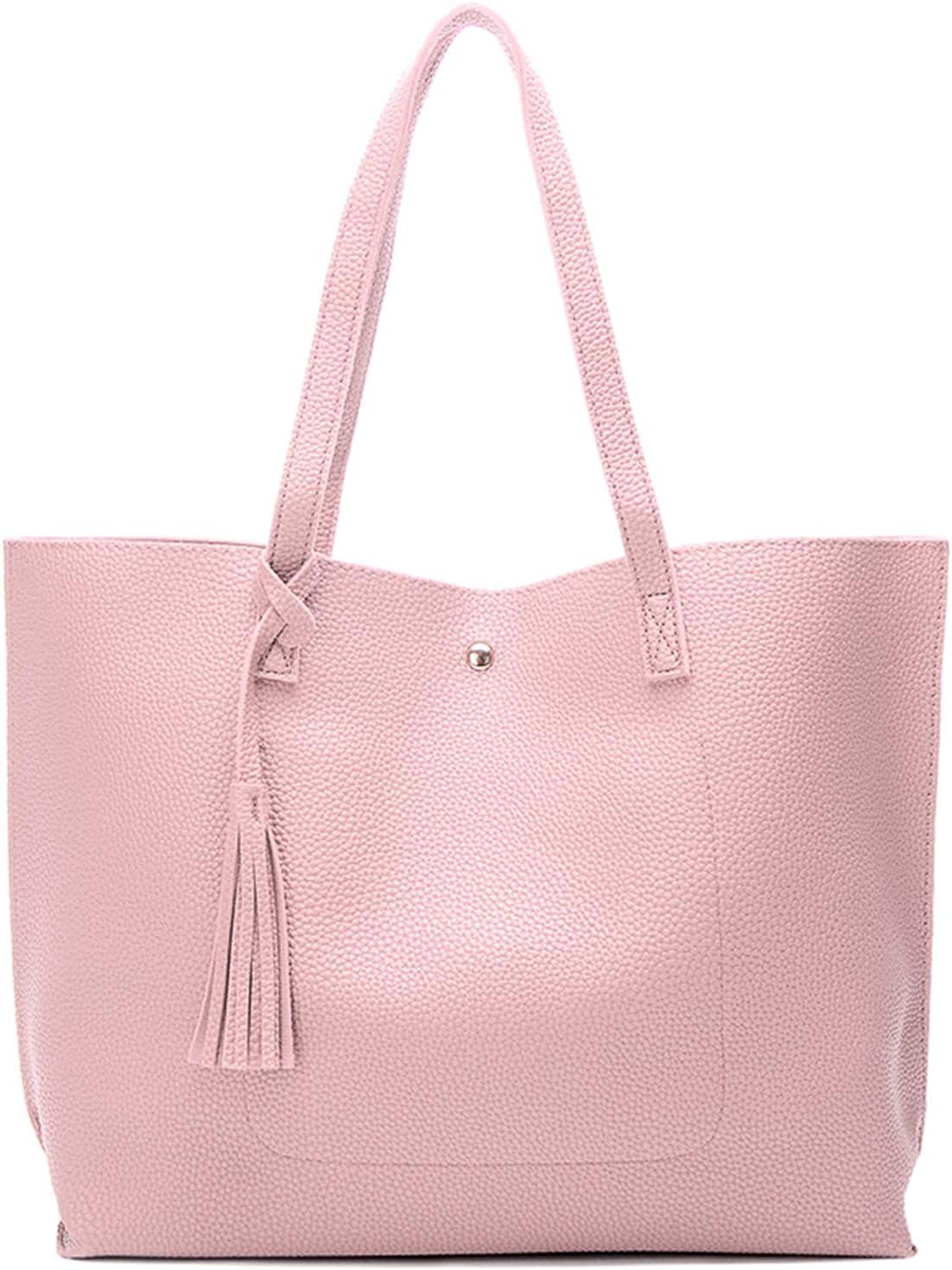 Myhozee Handtasche Damen Tasche PU-Leder Schultertasche Große Casual Tasche Handtaschen Shopper Shopping Bag Umhängetasche Tasche für Alltag Büro Schule Ausflug Einkauf -