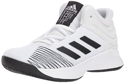 low priced 54c7a 4436e adidas Unisex Pro Spark 2018 K Wide Basketball Shoe, White Black Grey one