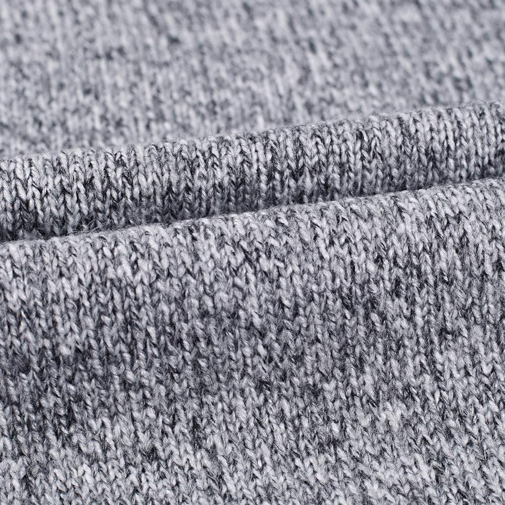 Naturazy Prendas De Punto SuéTeres Los Hombres OtoñO E Invierno SuéTer con Cremallera Casual Grueso Manga Larga Camiseta Jersey Blusa Superior: Amazon.es: ...