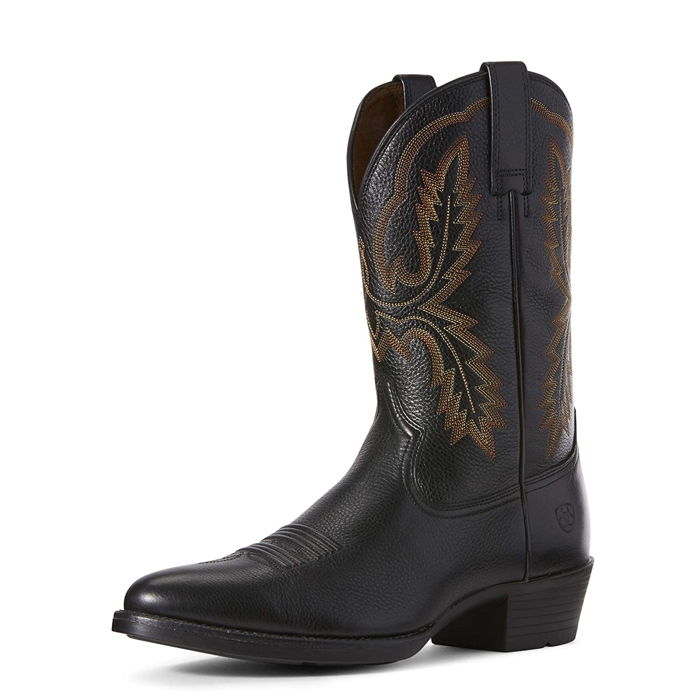 ARIAT Mens Bar Sour Western Boot Black Carbon Size 11.5 M Us
