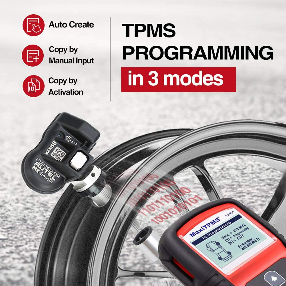 Autel TPMS Tool TS401 MX Program Function and Other Brand Sensor Relearn Service