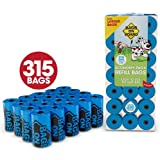 Bags On Board Dog Poop Bags | Strong, Leak Proof Dog Waste Bags | 9 x14 Inch Blue Bags