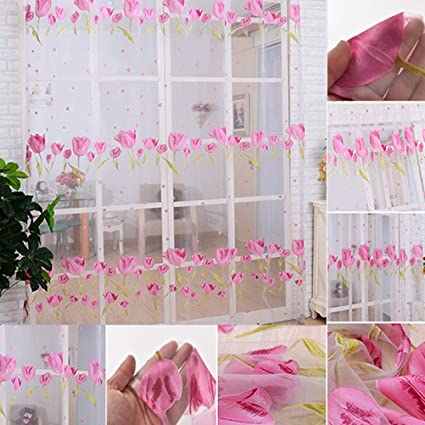 Buy Tulip Voile Blackout Curtains Living Room Window Curtains Tulle ...