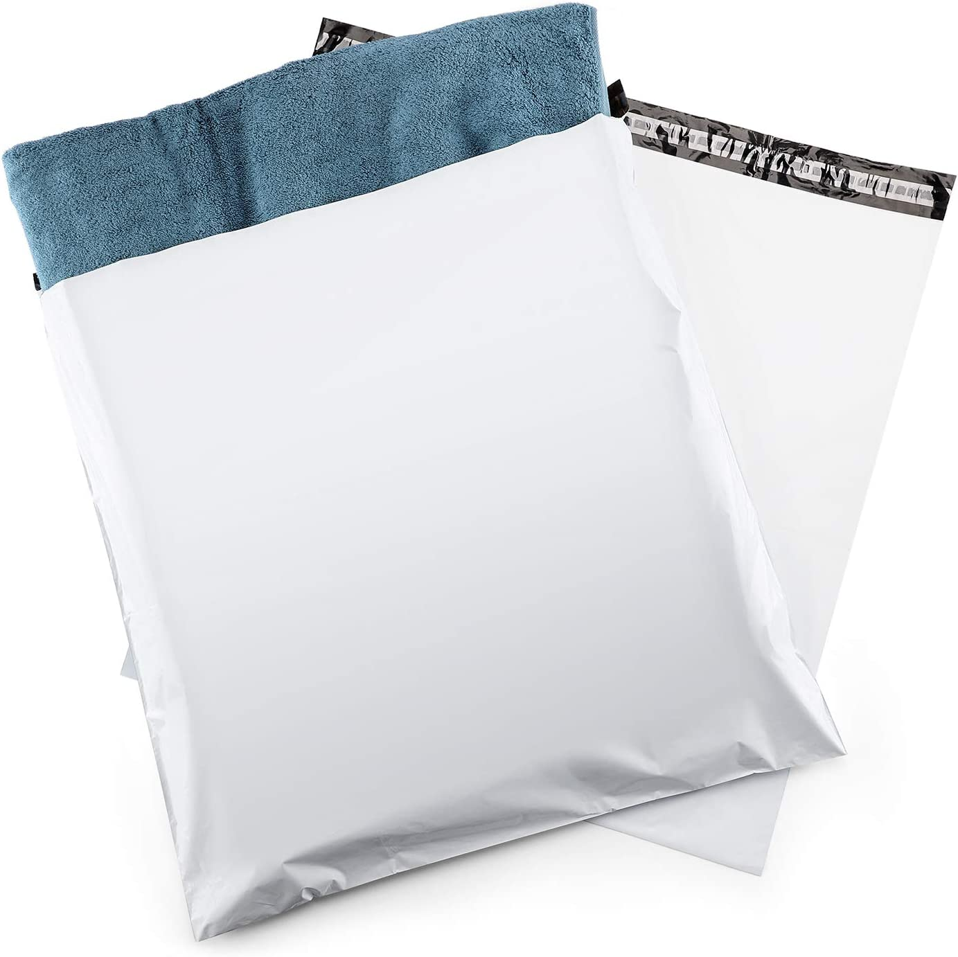 100PCS White Plastic Mailing Bags Poly Mailer Shipping Envelopes Self Sealing