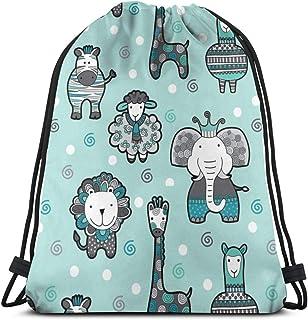 best pillow Doodle Critters Green_13960 3D Print Drawstring Backpack Rucksack Shoulder Bags Gym Bag for Adult 16.9'x14'