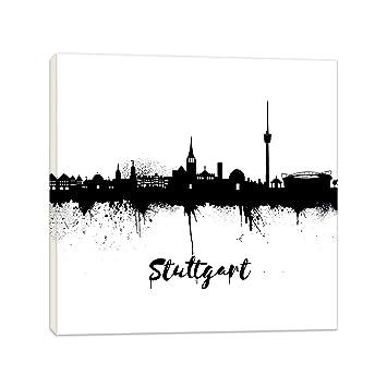 Hervorragend Wandbilder Wohnzimmer   Stuttgart Schwarz/Weiss   20x20cm Bilder  Leinwanddrucke/Street Art Graffiti Kunstdruck