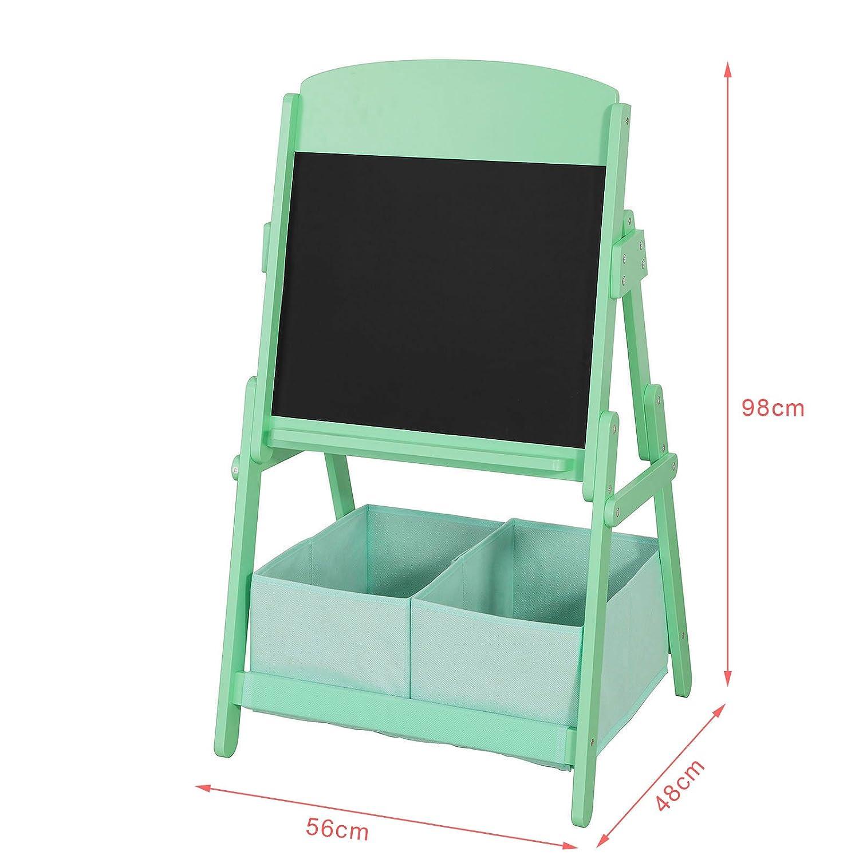 SoBuy KMB03-GR Kindertafel mit 2 Spielzeugkisten Standtafel ...