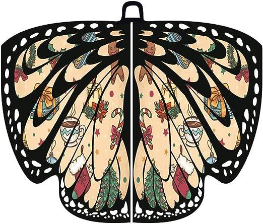 SilenceID - Bufanda con alas de Mariposa para Mujer S Wrap Tippet ...