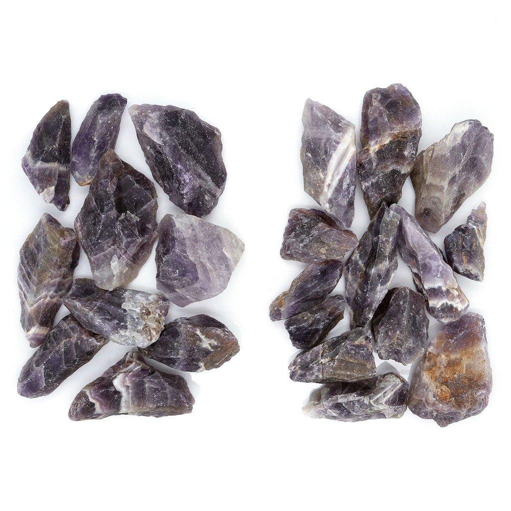 Top Plaza 0.6lb Bulk Rough Chestnut Amethyst Crystal Natural Raw Reiki Chakra Healing Crystal Mineral Gemstones Specimen Decoration
