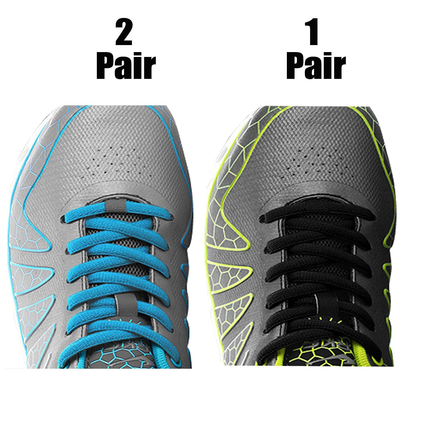 iBarbe [3 Pairs] Replacement Shoelaces Shoe Laces, Strings 45 inch Long x 1/4'' Wide,Strong Shoe Laces for Men,Women,Kids,Toddler & Seniors for Running Tennis Sports Shoes Casual Shoes-Black+Gray