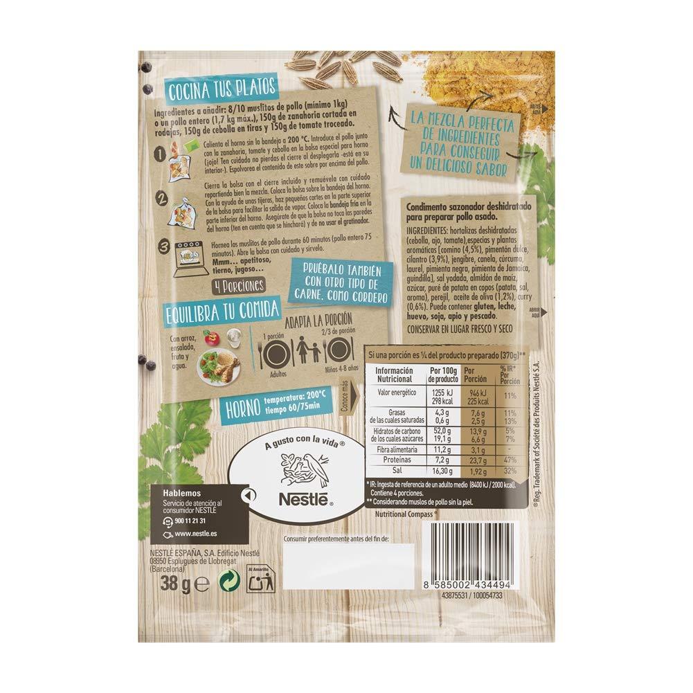 Maggi Jugoso al Horno Receta Marroquí - 1 Bolsa para Horno con Condimentos Marroquí - 38g: Amazon.es: Alimentación y bebidas