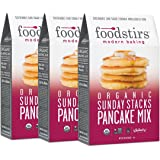 Foodstirs Organic Sunday Stacks Pancake Mix 20 Ounce (Pack of 3)
