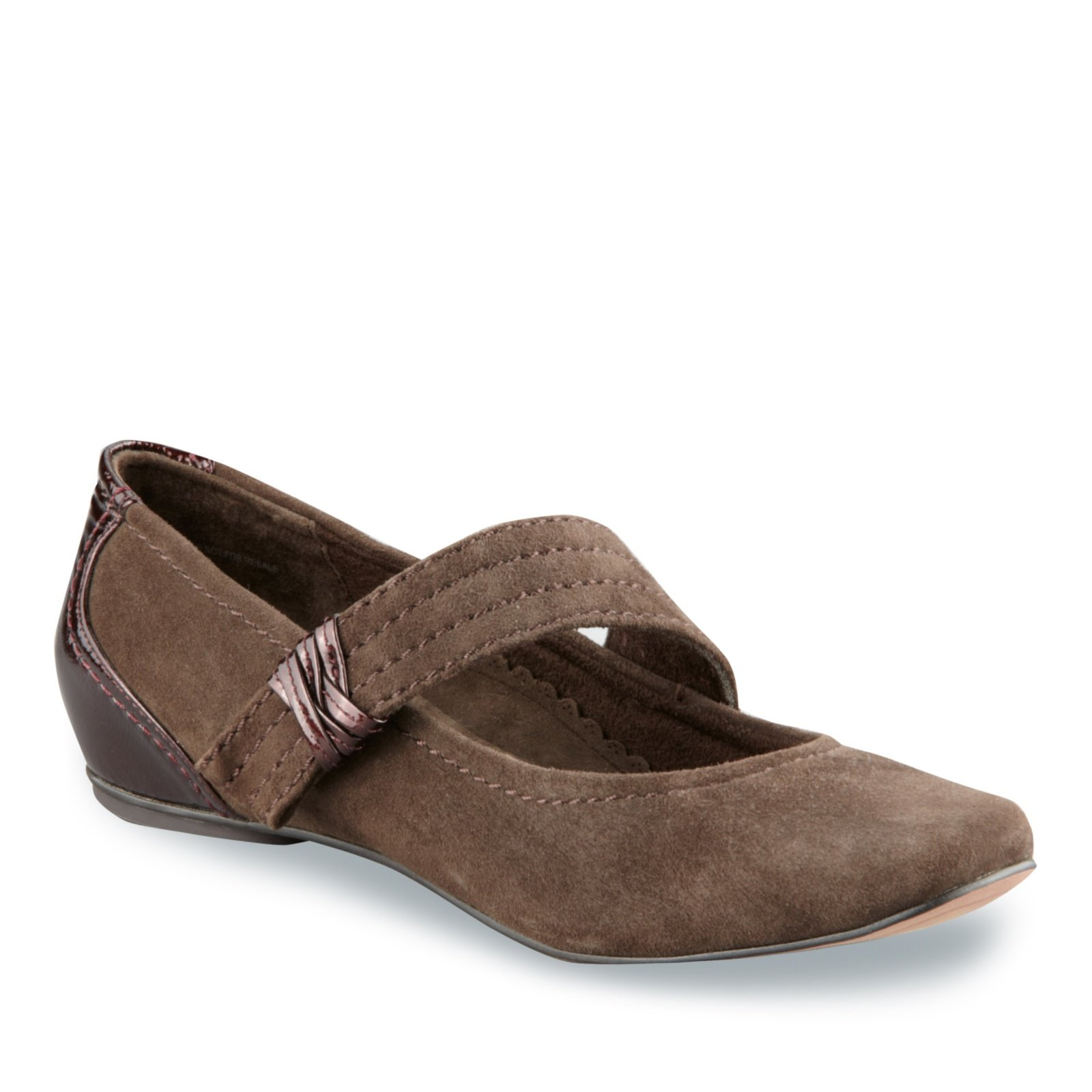 Antia Women's Bella Mary Jane Shoes, Mocha Suede, 5.5 M/C