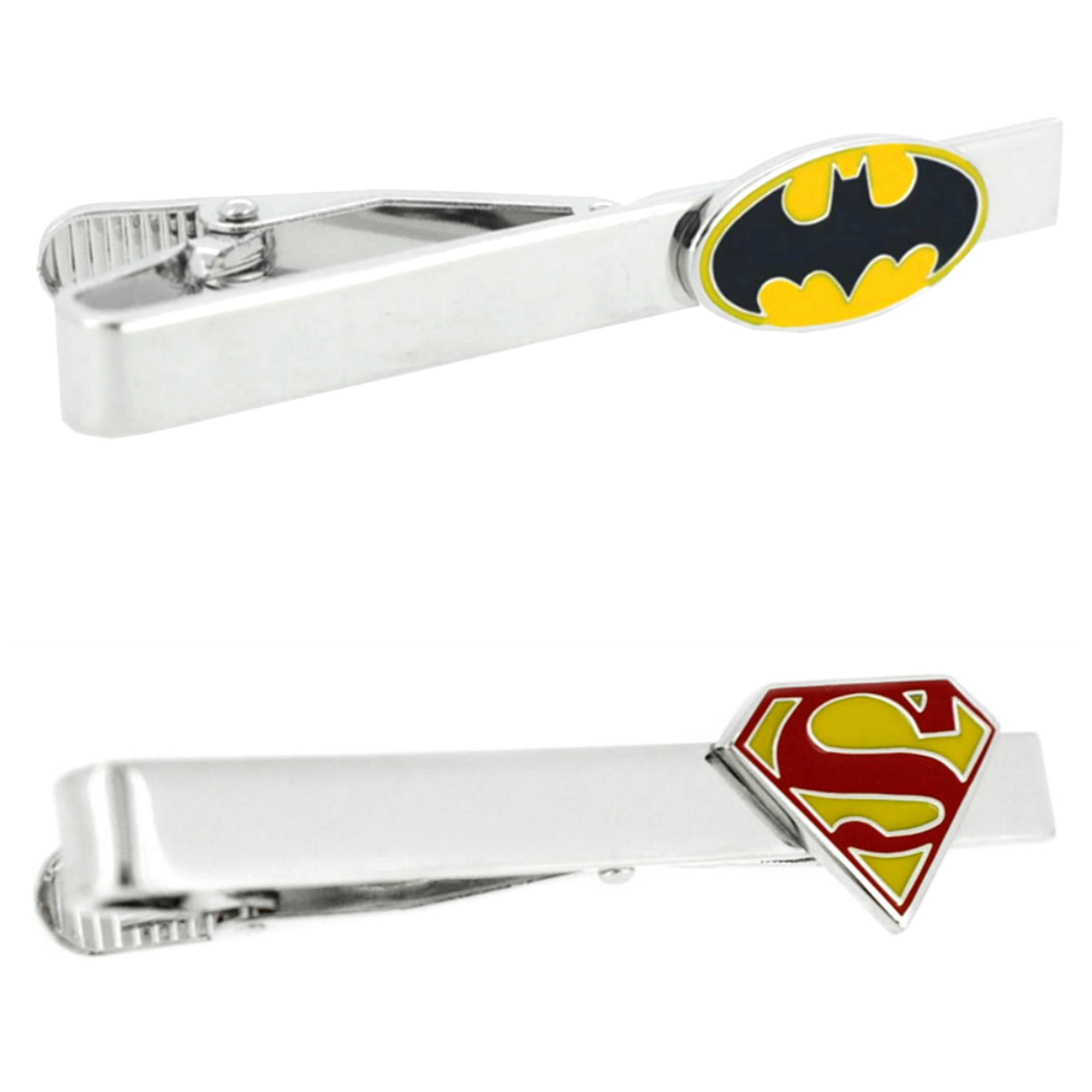 Outlander DC Comics - Batman & Robin - Tiebar Tie Clasp Set of 2 Wedding Superhero Logo w/Gift Box