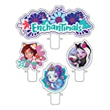 Amscan International Amscan 9904858 Party Novelty Candle 4 Pack Enchantimals, Colour