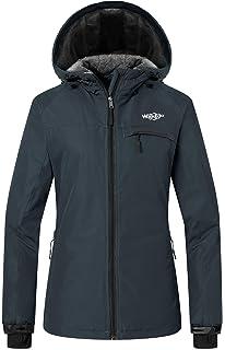 Wantdo Women s Mountain Ski Jacket Windproof Fleece Snow Coat Rainwear  Waterproof Hooded Warm Parka 6e86e8cd2