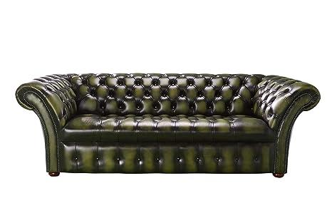 Designer Sofas 4 U Chesterfield Balmoral 3 plazas Sofá, Piel ...