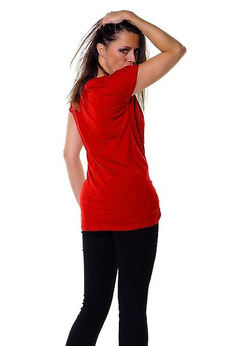 3Elfen - Camiseta - Básico - Manga corta - para mujer: Amazon.es: Ropa y accesorios