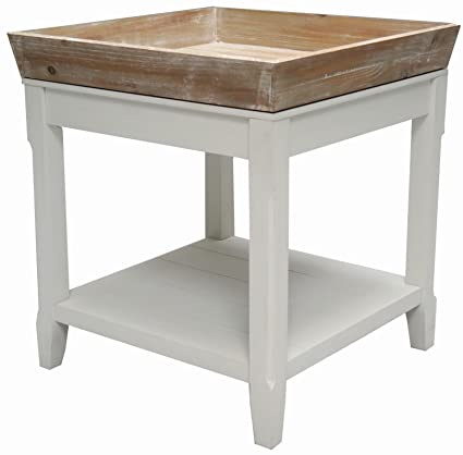 Tavolino Riviera, quadrato, stile shabby chic: Amazon.it: Casa e cucina