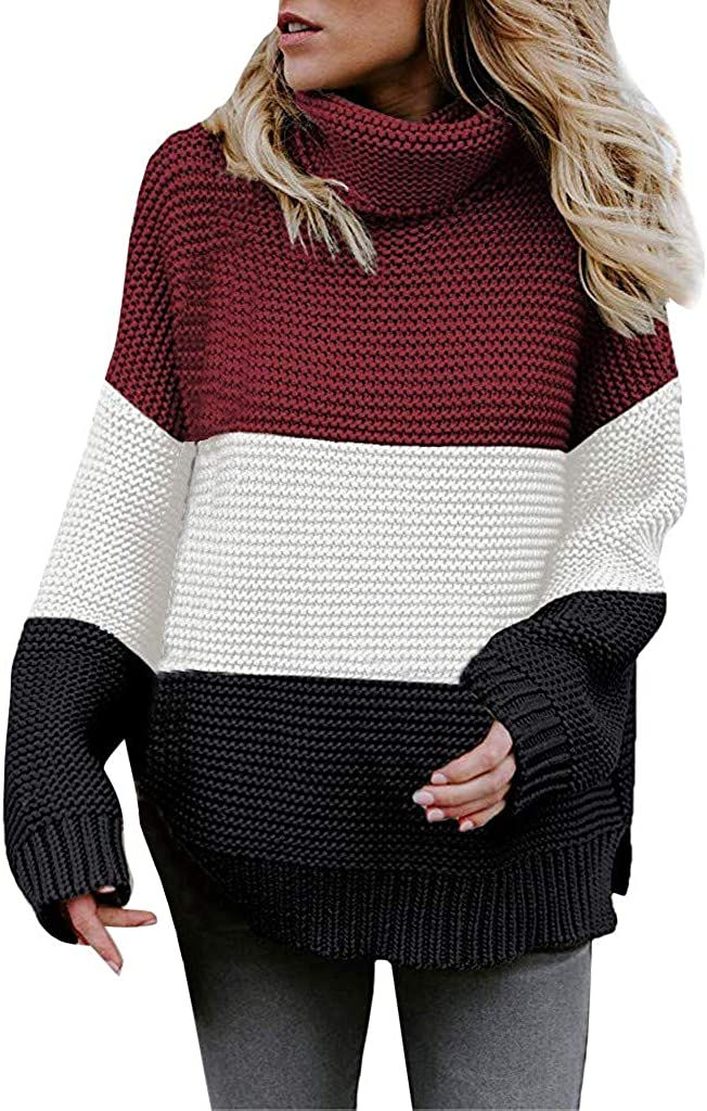 NEEDRA New Jumper Sweater Womens Outwear Coat Jacket Ladies Casual Sweatshirt Pullover Tops Blouse Shirt Cowl Neck Blouse Tops Knitted