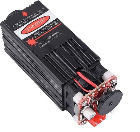 TOPQSC 2.5W 450nm TTL PWM Contr/ôle Module Laser Bleu DC 12V R/églable T/ête Laser Focale 100-240V Module de gravure de T/ête Laser+Lunettes de Protection pour DIY Machine de Gravure Laser