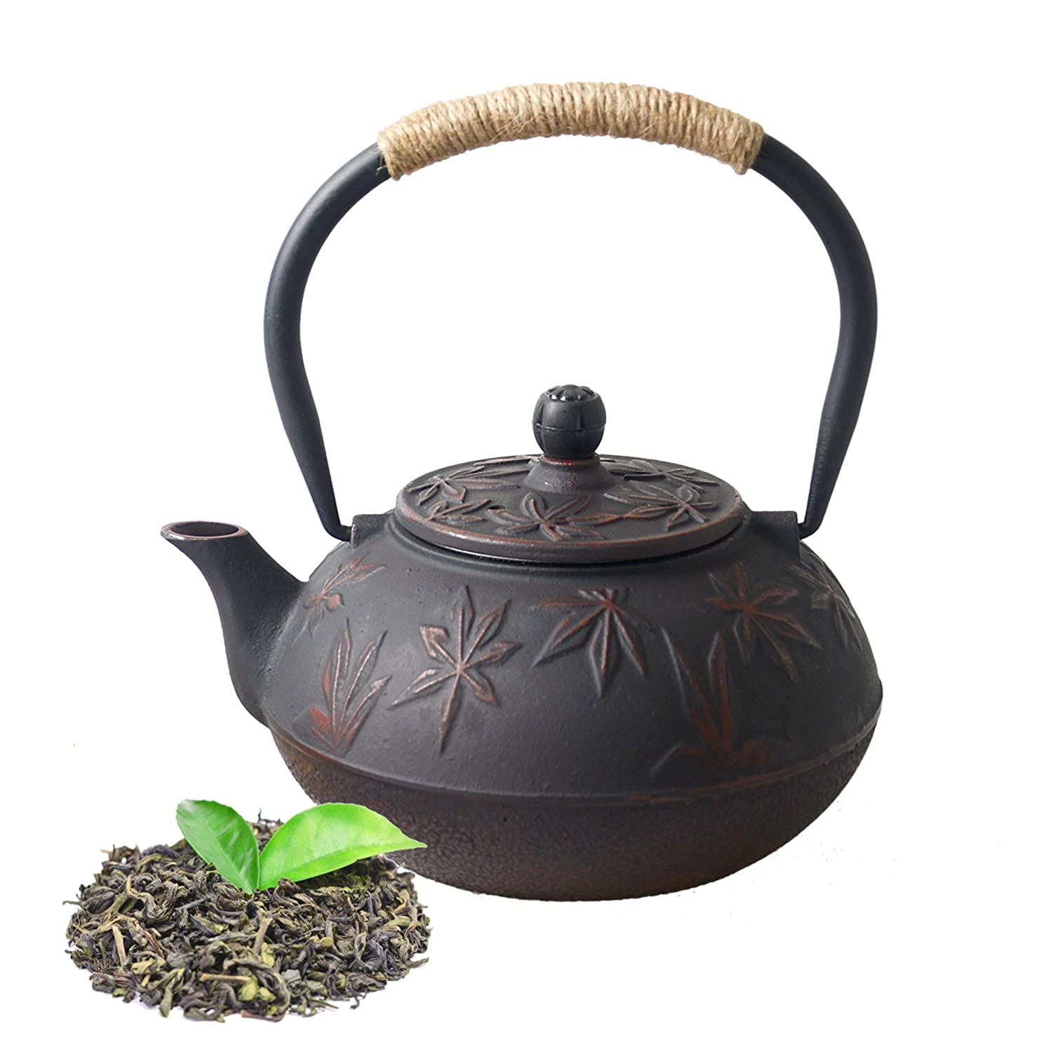 Hwagui - Black Fish Scale Design Cast Iron Teapot with Infuser for Tea Brewing(800ml/27oz) fish-scale-01